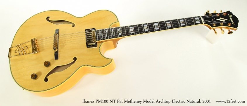 Ibanez PM100 NT Pat Metheney Model Archtop Electric Natural, 2001 Full Front View
