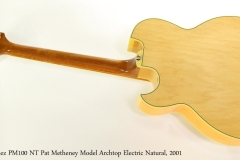 Ibanez PM100 NT Pat Metheney Model Archtop Electric Natural, 2001 Full Rear View