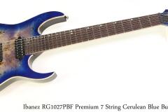 Ibanez RG1027PBF Premium 7 String Cerulean Blue Burst Full Front View