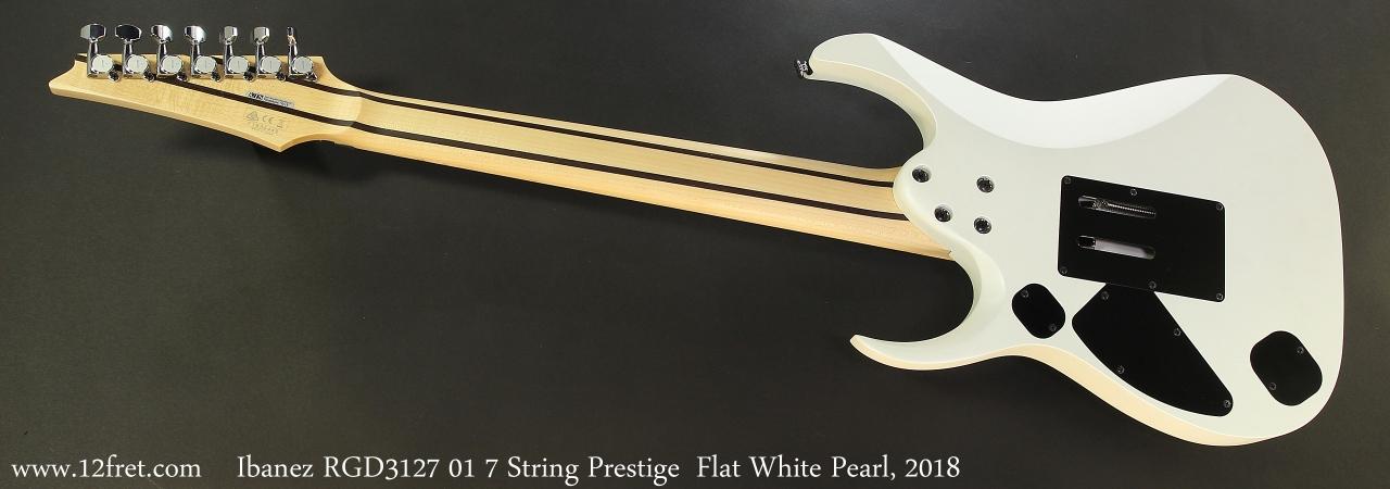 Ibanez RGD3127 01 7 String Prestige  Flat White Pearl, 2018 Full Rear View