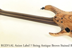 Ibanez RGD71AL Axion Label 7 String Antique Brown Stained Burst Full Front View