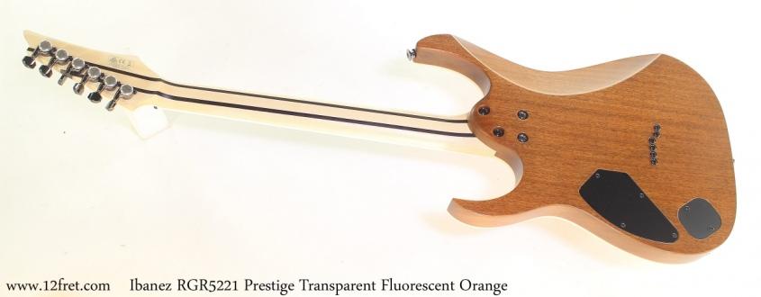 Ibanez RGR5221 Prestige Transparent Fluorescent Orange Full Rear View