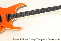 Ibanez RGR5221 Prestige Transparent Fluorescent Orange Full Front View