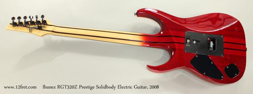 Ibanez RGT320Z Prestige Solidbody Electric Guitar, 2008 Full Rear View
