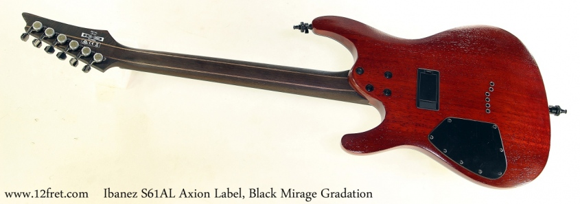 Ibanez S61AL Axion Label, Black Mirage Gradation Full Rear View