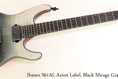 Ibanez S61AL Axion Label, Black Mirage Gradation Full Front View