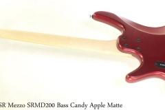 Ibanez SR Mezzo SRMD200 Bass Candy Apple Matte Full Rear View
