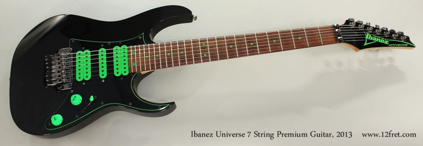 Ibanez Universe 7 String Premium Guitar, 2013 Full Front View