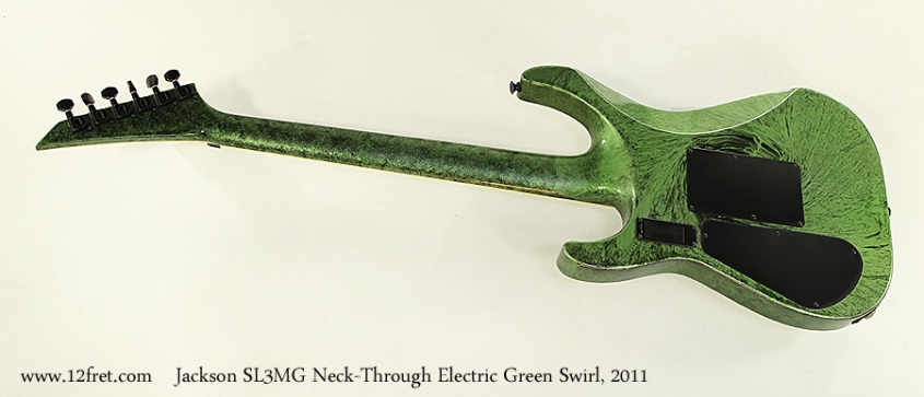Jackson SL3MG Neck-Through Electric Green Swirl, 2011 Full Rear View