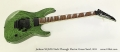 Jackson SL3MG Neck-Through Electric Green Swirl, 2011 Full Front View