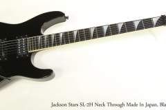 Jackson Stars SL-2H Neck Through Made In Japan, Black, 1990  Full Front View