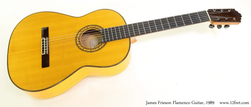 James Frieson Flamenco Guitar, 1989   Full Front View