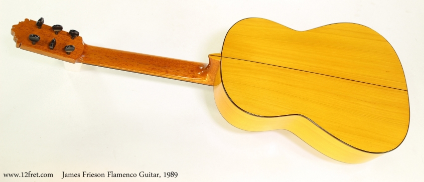 James Frieson Flamenco Guitar, 1989   Full Rear View