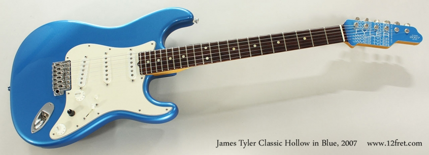 James Tyler Classic Hollow in Blue, 2007 Full Front View