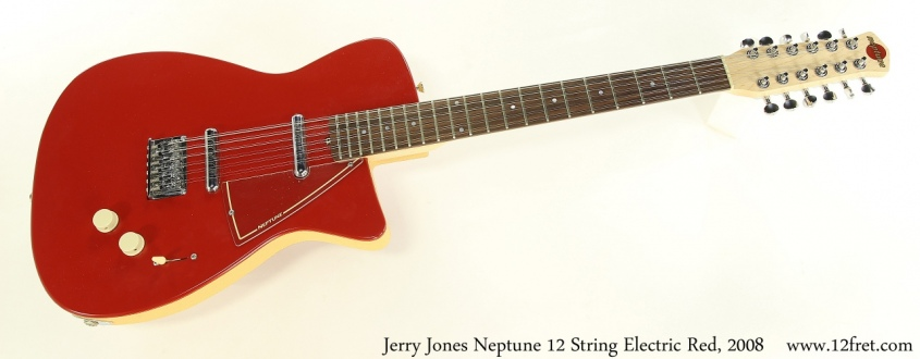 Jerry Jones Neptune 12 String Electric Red, 2008 Full Front View