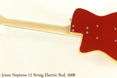 Jerry Jones Neptune 12 String Electric Red, 2008 Full Rear View