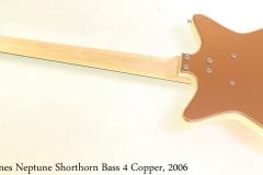 Jerry Jones Neptune Shorthorn Bass 4 Copper, 2006 Full Rear View