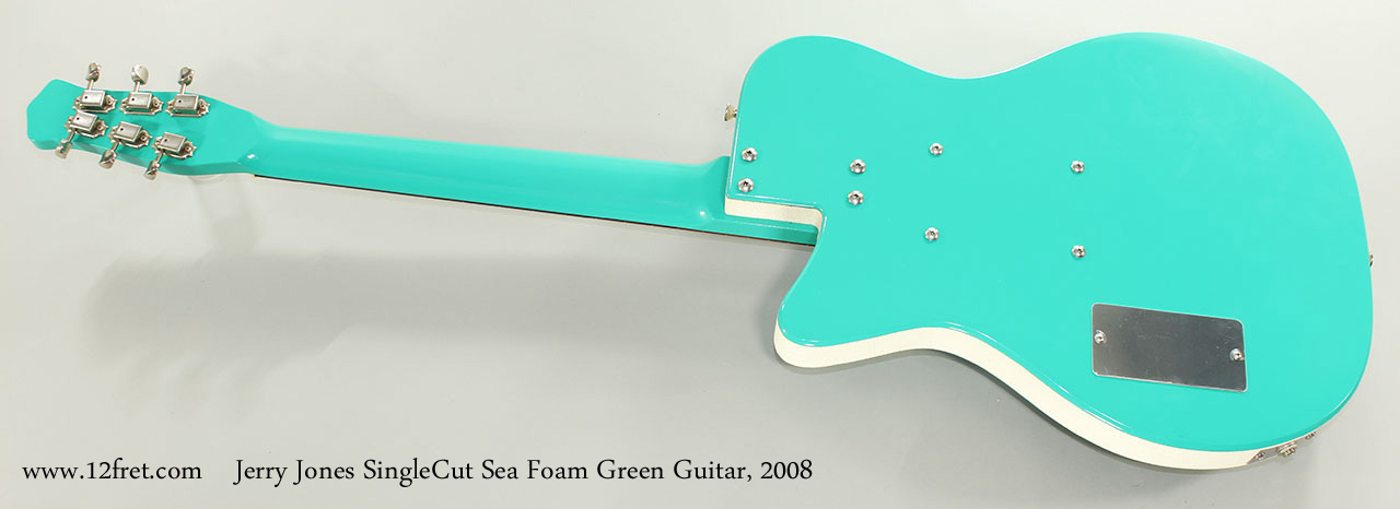 Jerry Jones SingleCut Sea Foam Green Guitar, 2008 Full Rear View