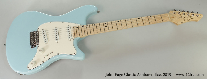 John Page Classic Ashburn Blue, 2015 Full Front View