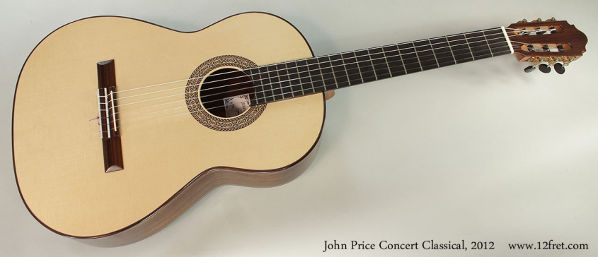 John Price Concert Classical, 2012 Full Front VIew