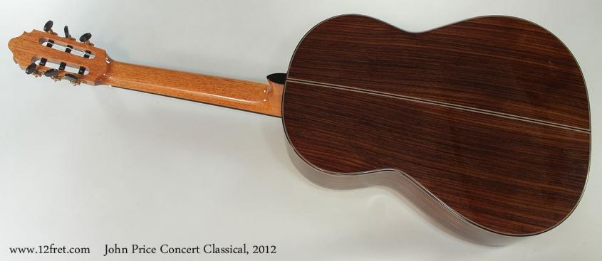 John Price Concert Classical, 2012 Full Rear VIew