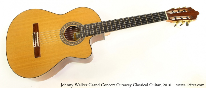 Johnny Walker Grand Concert Cutaway Classical Guitar, 2010 Full Front View