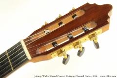 Johnny Walker Grand Concert Cutaway Classical Guitar, 2010 Head Front View