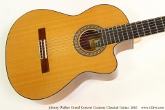 Johnny Walker Grand Concert Cutaway Classical Guitar, 2010 Top View