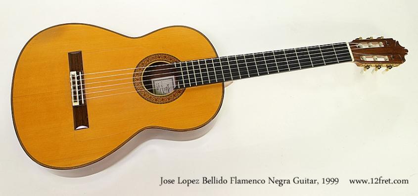 Jose Lopez Bellido Flamenco Negra Guitar, 1999 Full Front View