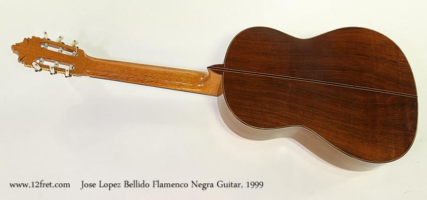 Jose Lopez Bellido Flamenco Negra Guitar, 1999 Full Rear View