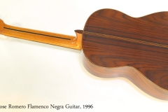 Jose Romero Flamenco Negra Guitar, 1996 Full Rear View