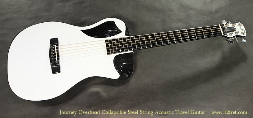 Journey Overhead OF660W1 Collapsible Steel String Acoustic Travel Guitar Full Front View