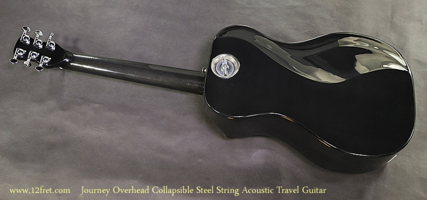 Journey Overhead OF660W1 Collapsible Steel String Acoustic Travel Guitar Full Rear View