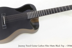 Journey Travel Guitar Carbon Fiber Matte Black Top – OF660M   Full Front View