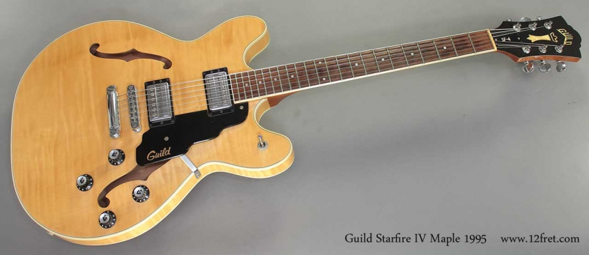 Guild Starfire IV Maple 1995 full front view