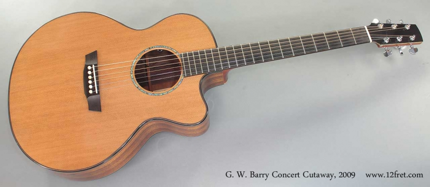G. W. Barry Concert Cutaway 2009 Full Front View