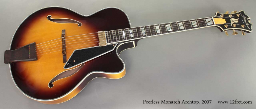 Peerless Monarch Archtop 2007 full front view