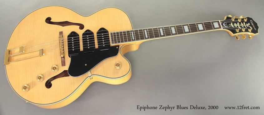 Epiphone Zephyr Blues Deluxe Archtop 2000 full front view