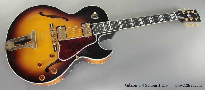 Gibson L-4 Sunburst Archtop 2004 full front view