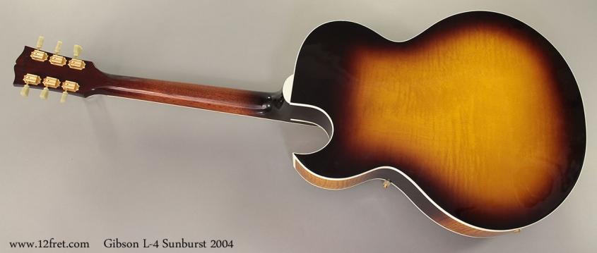 Gibson L-4 Sunburst Archtop 2004 full rear view