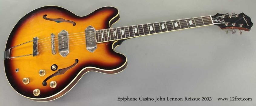 Epiphone Casino John Lennon Reissue 2003 full front view