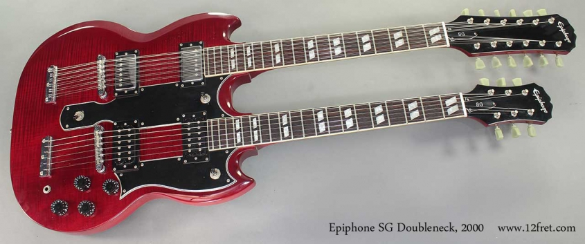 Epiphone SG Doubleneck, 2000 full front view