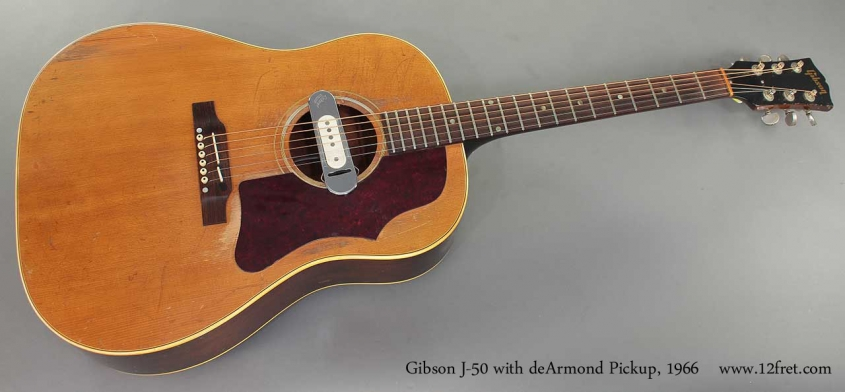 Gibson J-50 with deArmond Pickup 1966 full front view
