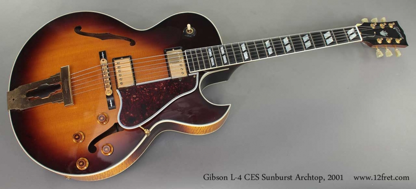 Gibson L-4 CES Sunburst Archtop 2001 full front view