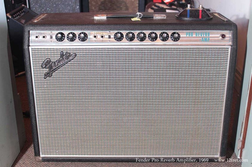 Fender Pro Reverb Amplifier 1969 full front view