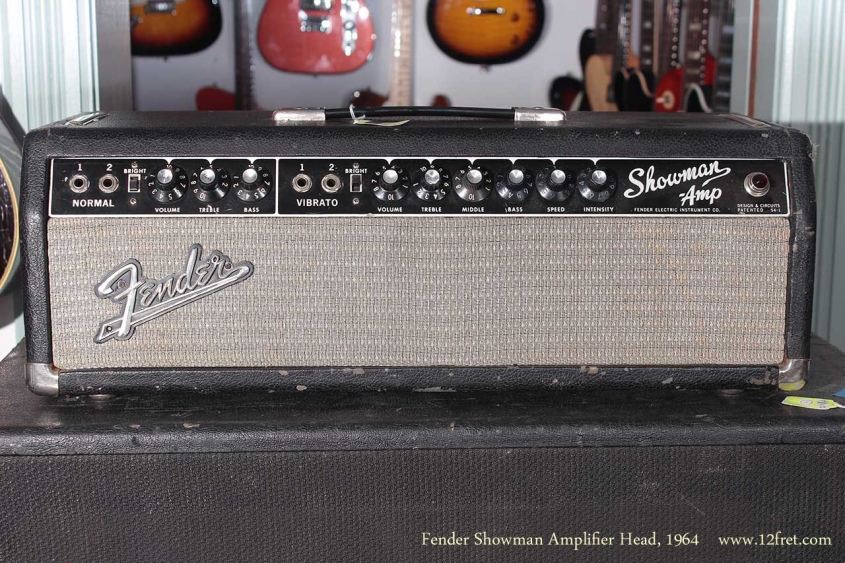 Fender Showman Amplifier Head 1964 full front view