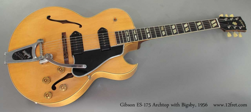 Gibson ES-175 Archtop with Bigsby 1956 full front view