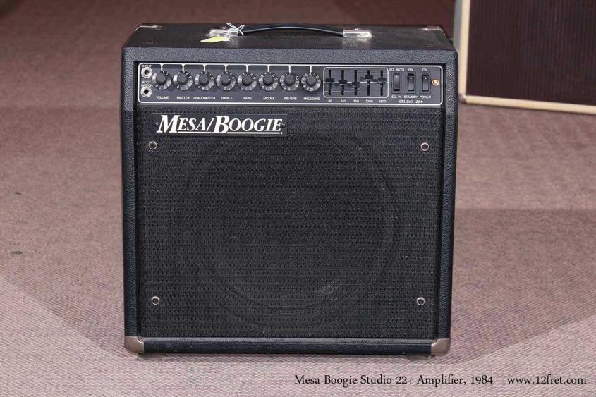 Mesa Boogie Studio 22+ Amplifier, 1984 full front view