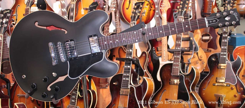 Gibson ES-335 Satin Black 2011 Just In Full Front