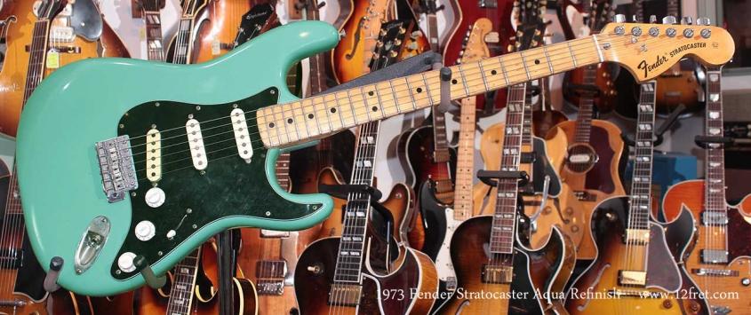 Fender Stratocaster Aqua 1973 Just In Full Front